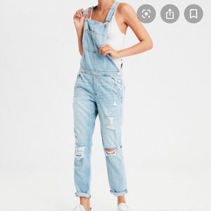 NWT Distressed Tomgirl Overalls